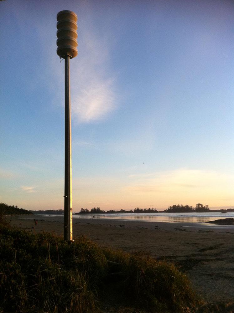 Tofino Tsunami Siren at North Chesterman Beach
