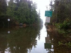 Tofino Road Flooded